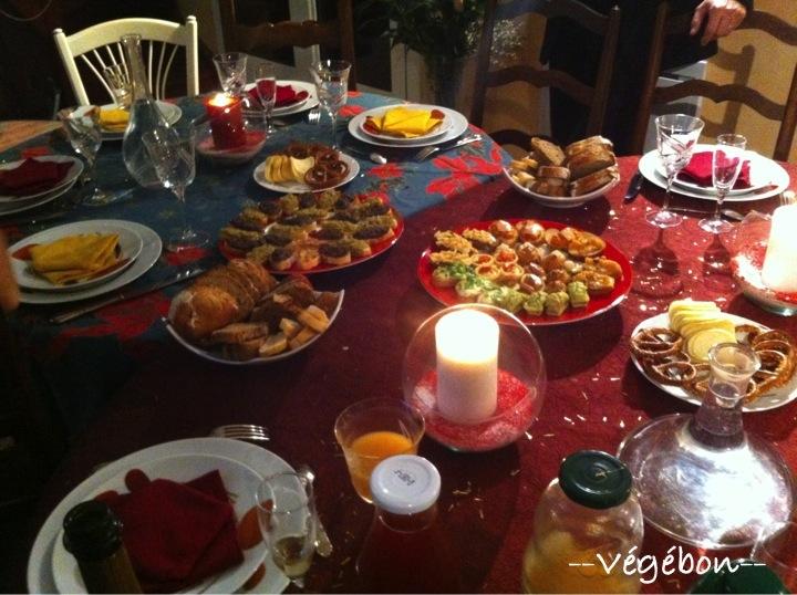 Repas de no l v g bon for Entree de repas